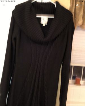 Black wool dress size medium for Sale in Germantown, MD