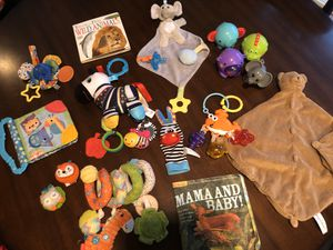 Infant Animal Themed Toy and Book Lot for Sale in Renton, WA