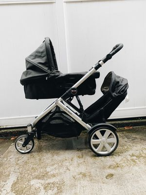 2012 Britax b ready double stroller parts bassinet, second seat, attachments, and adapters for Sale in Portland, OR