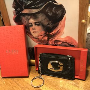 Pretty Soft Black Leather Guess Wristlet for Sale in Gainesville, VA