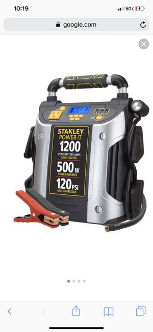 Stanley Power iT 1200A Car Jumpstarter/Charger/Air Compressor/Invertor for Sale in Alafaya, FL