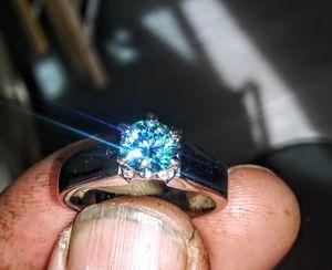 .95 ct Genuine Blue Diamond Ring. trade for car. for Sale in Arcata, CA