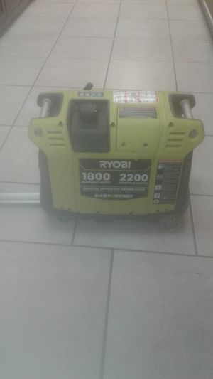 Ryobi 1800-2200 Starting Watts Digital Inverter Generator for Sale in Davie, FL