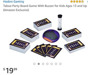 Taboo Party Board Game With Buzzer for Kids Ages 13 and Up for Sale in North Las Vegas, NV
