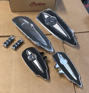 Brand New Indian Motorcycle floorboards set, includes pegs for Sale in Danville, CA