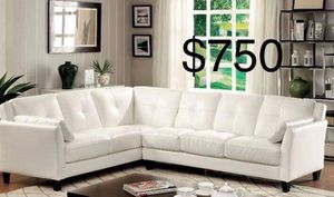 New Couch Sectional White Leather. $750 for Sale in Culver City, CA