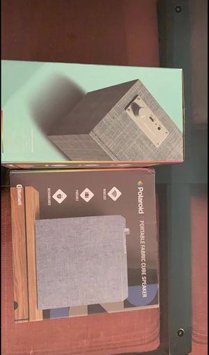Classy Polaroid fabric cube speaker for Sale in Portland, OR