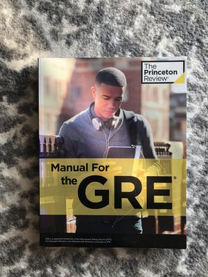 Princeton Review Manual for the GRE for Sale in Chicago, IL