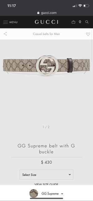 Authentic Gucci belt size 28- 36 men's for Sale in San Diego, CA