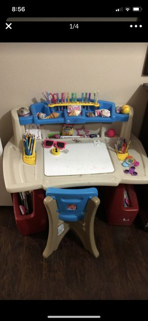 Kids desk with side storage and more for Sale in Poway, CA