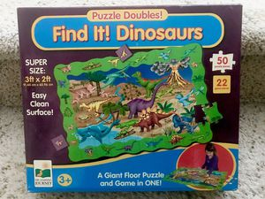 Giant Dinosaur floor puzzle and find it game for Sale in Irvine, CA