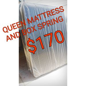 QUEEN MATTRESS AND BOX SPRING for Sale in Hawthorne, CA