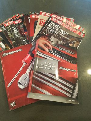 Snap-on 2012 and 2014 catalogs with 16 monthly sale fliers for Sale in Las Vegas, NV