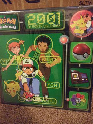 Very Rare 2001 Pokemon 16 Month Calendar for Sale in Tacoma, WA