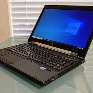 "HP 15.5"" EliteBook 8570w Intel i7-3740QM 700GB 14GB Ram Windows 10 Pro Laptop Home Office Notebook PC for Sale in Plano, TX"