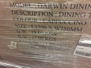 Darwin Dining Table box pack for Sale in Cerritos, CA
