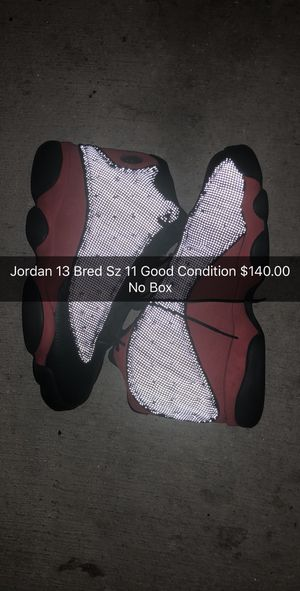 Jordan 13 Bred No Box for Sale in Miami, FL
