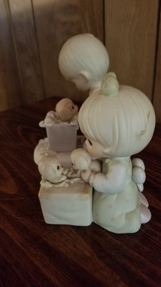 Precious Moments Figurines set of 2 Always Room For One More, You Just Cannot Chuck a Good Friendship