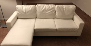 White leather couch for Sale in Bloomfield Township, MI