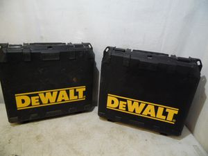 2 Dewalt Drill Power Tool Case DC759KA & DC742KA Black Sturdy Plastic Tool Box for Sale in Lansdowne, PA