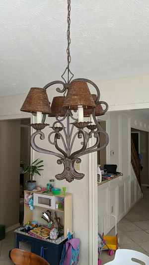 Romantic Wrought Iron Chandelier 4-Light Kitchen Light for Sale in Sugar Land, TX