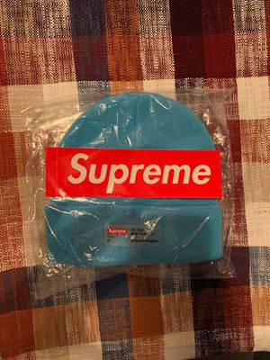 SUPREME CLEAR LABEL BEANIE - CYAN for Sale in Irwindale, CA