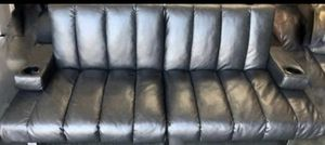 Black leather futon for Sale in Springfield, MA