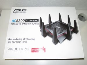 ASUS GT-AC5300 GT Rapture Wireless Router Tri-Band Gigabit for Sale in Garland, TX