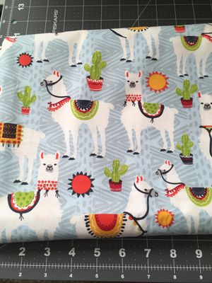 Llama Cotton Fabric 4 Yards for Sale in Citrus Heights, CA