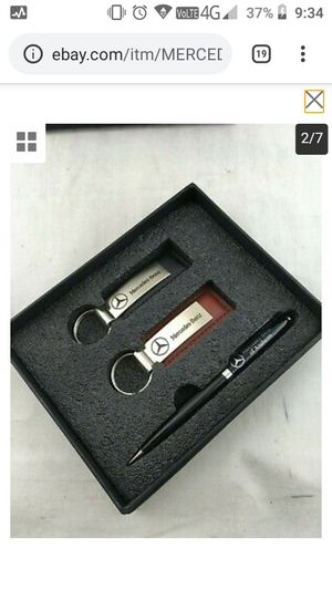 $40 Mercedes-Benz of Anaheim Engraved Pen and Leather Key chain set brand new for Sale in Temecula, CA