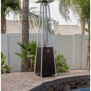 Hiland Pyramid Patio Propane Heater w/Wheels, 87 Inches, Hammered Bronze for Sale in Los Angeles, CA