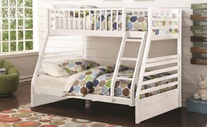 Brand New White Twin Over Full Bunk Bed for Sale in Oak Lawn, IL