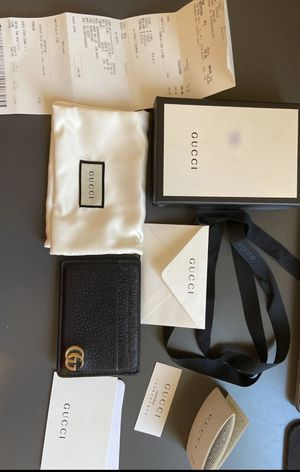 MENS AUTHENTIC GUCCI CARDHOLER/MONEYCLIP WALLET for Sale in Fullerton, CA