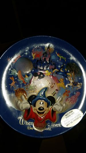 Authentic Disney world ceramic plate for Sale in White House, TN