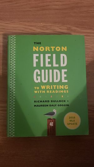 The Norton field guide to write with readings 2016 MLS update college text book for Sale in Pasadena, TX