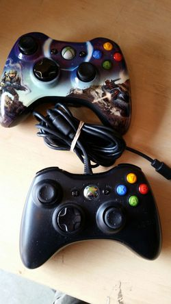 Xbox 360 wired and wireless controllers Halo for Sale in Portland,  OR