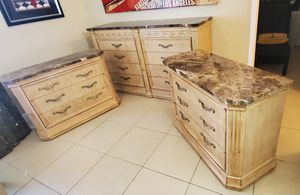 BERNHARD marble topped dresser and 2 night stand for Sale in Boca Raton, FL
