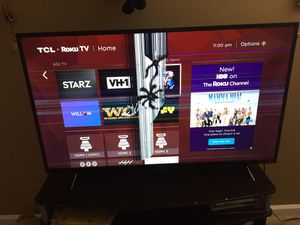 "TCL 55"" Roku tv - cracked - only for parts for Sale in St. Louis, MO"