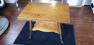 Victorian Oak Claw and Ball Table for Sale in Denver, CO