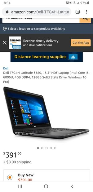 DELL 3380 LAPTOP WITH 30 DAY WARRANTY for Sale in Baltimore, MD