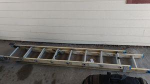 Fiberglass and aluminum 24 ft extension ladder for Sale in Denver, CO