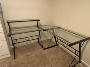 Glass corner desk for Sale in Denver, CO