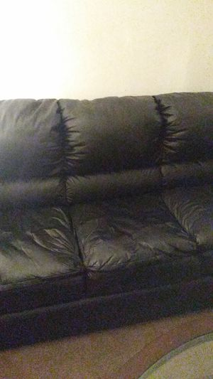 Real leather black furniture for Sale in Alexandria, VA