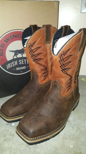 "Irish Setter Marshall 11"" Leather Pull On Safety Boots for Sale in Grand Prairie, TX"