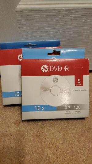 HP DVD-R 5pk for Sale in Odessa, TX