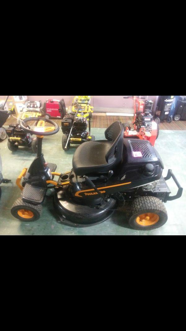 Poulanpro Ride Along lawn mower