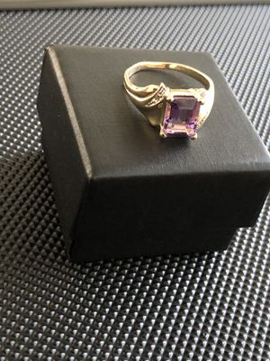 10kt Amethyst stone and Diamond Ring for Sale in Redwood City, CA