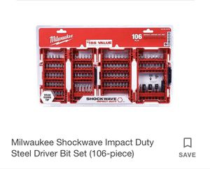 """Milwaukee 106 drill bit set . """"Brand new"""" in box. for Sale in Gilroy, CA"""