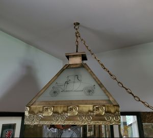 Unique Large Tin and Glass Chandelier for Sale in Englishtown, NJ