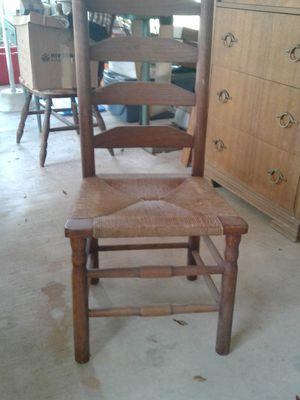 Antique ladder back wicker chair for Sale in Denham Springs, LA
